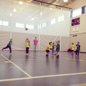 The Brothers coached basketball teams for children aged five and six from January to March. The volunteers led practices once a week and organized games every Saturday.