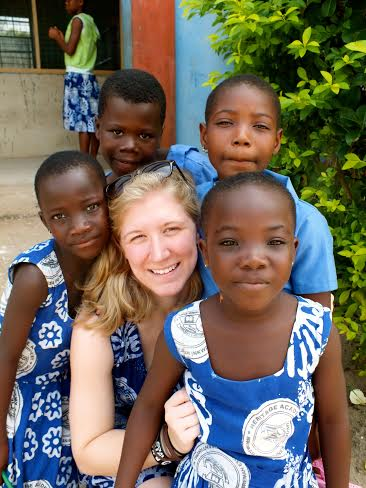Carey Sentman '14 traveled to the Heritage Academy in Ghana, where she and eight other students lived and taught children for 19 days. Photo courtesy of Kate Nelligan '14