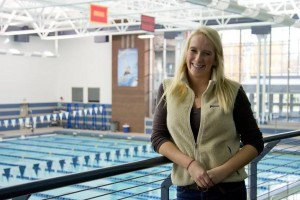 Katie Grant '15 represented F&M on the national athletic stage at the swimming NCAAs. This is her second consecutive year qualifying for the competition. Photo by Krissy Montville '14