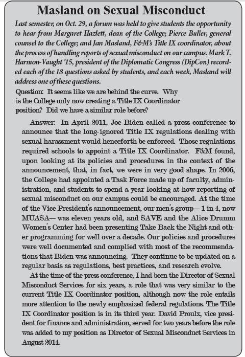 TCR 2-9-15 Title IX
