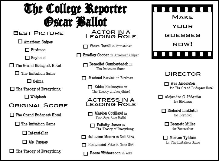 TCR Oscar Ballot