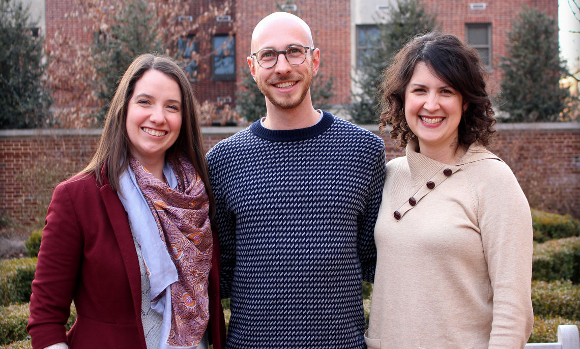 From left to right, Lauren Howard, Joshua Rottman, and Krista Casler direct the three labs of the new Development and Experience Center (DAX).