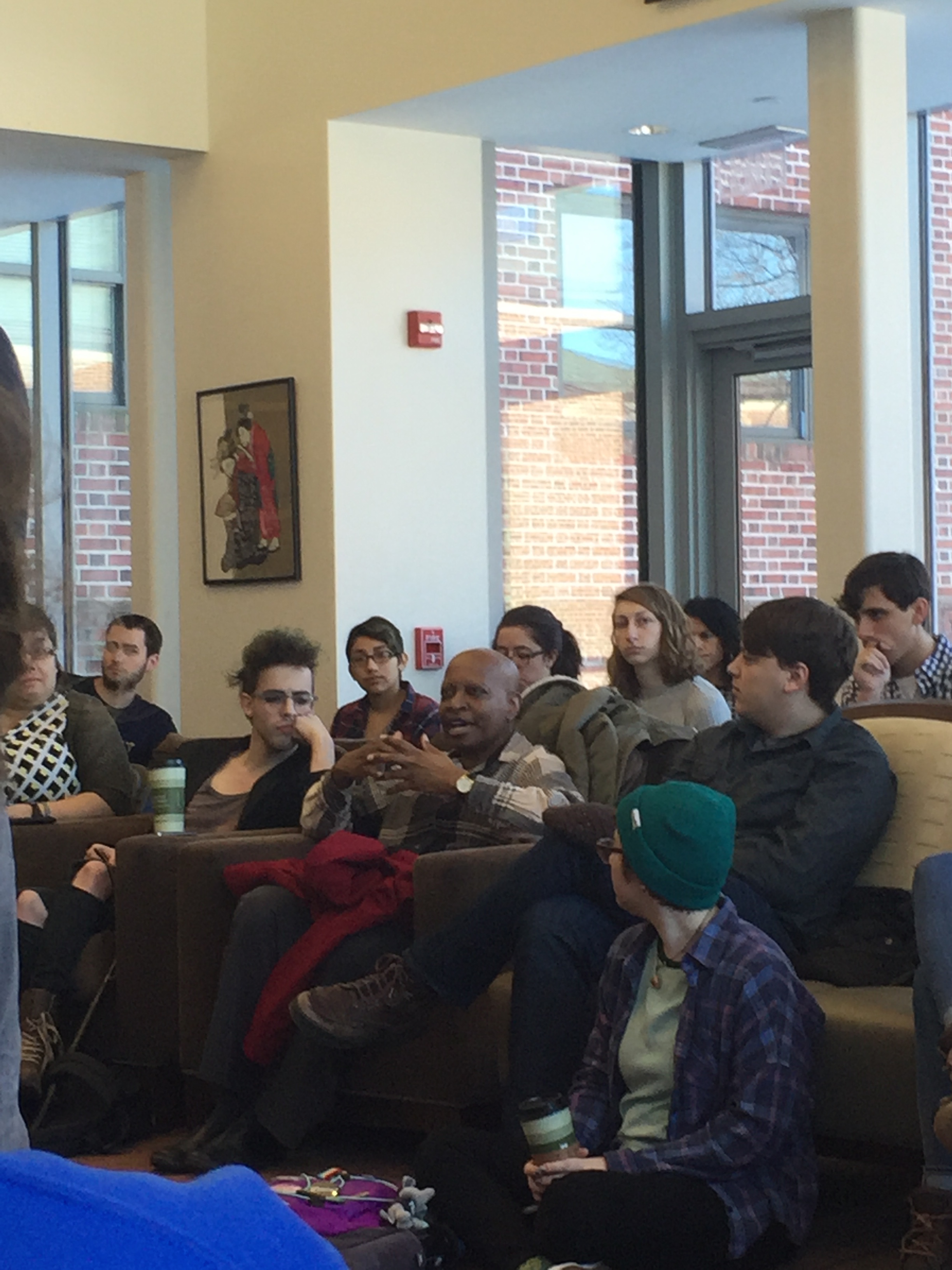 At the forum in Brooks College House, students, faculty, and others in attendance shared their experiences and views on discrimination at F&M.