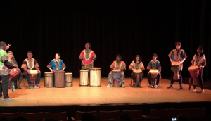 "BSU hosted ""Apollo Night"" as part of Civil Rights Week. The night's acts included African drumming, a capella groups, spoken work performers, dancing, and more."