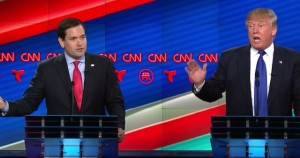 According to the F&M Poll, Donald Trump (right) still leads other contenders for the Republican presidential nomination, including Marco Rubio (left). Photo courtesy of politicsusa.com.