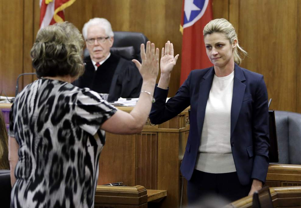 Erin Andrews testified in court last week against a man who stalked her and filmed her illegally, and against a Marriott Hotel in which the filming occurred.