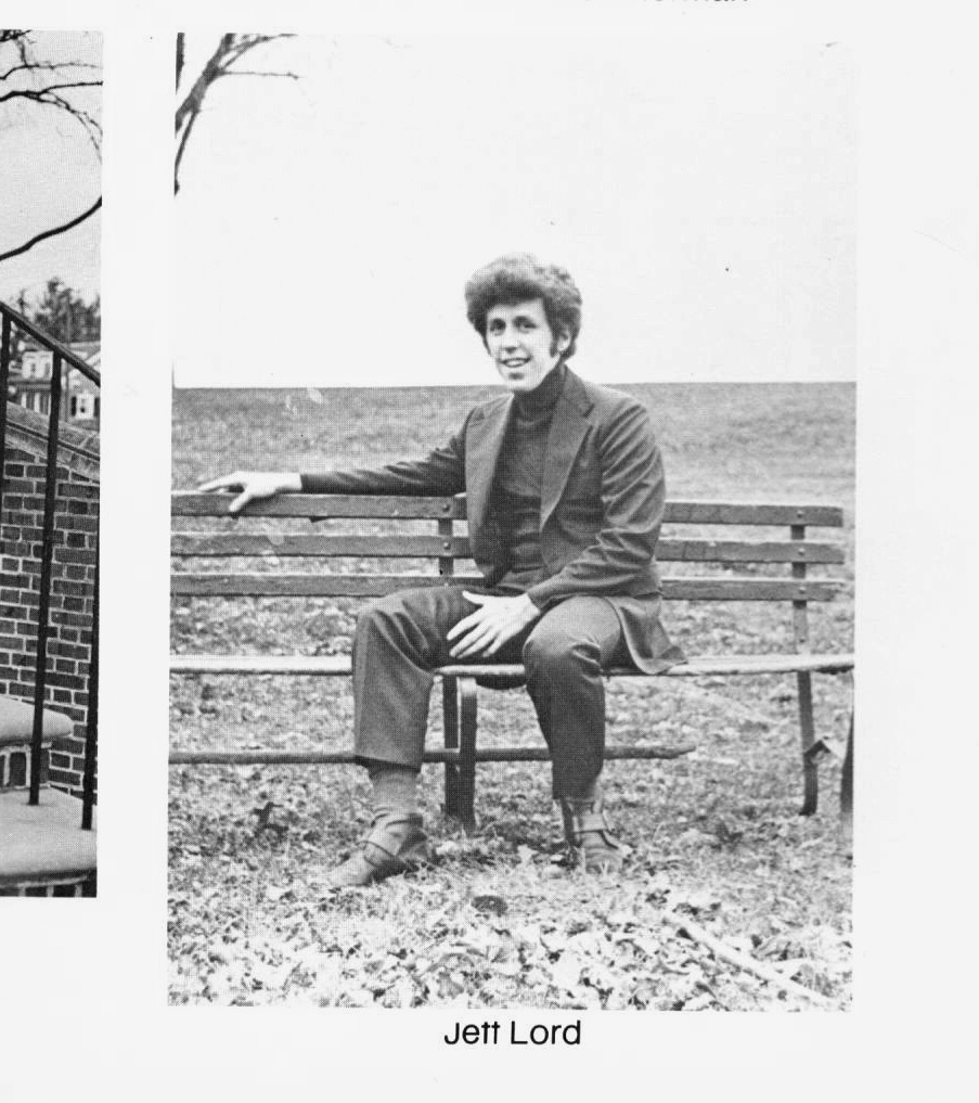 Jeffrey Lord pictured in his Franklin & Marshall Class of 1973 yearbook.